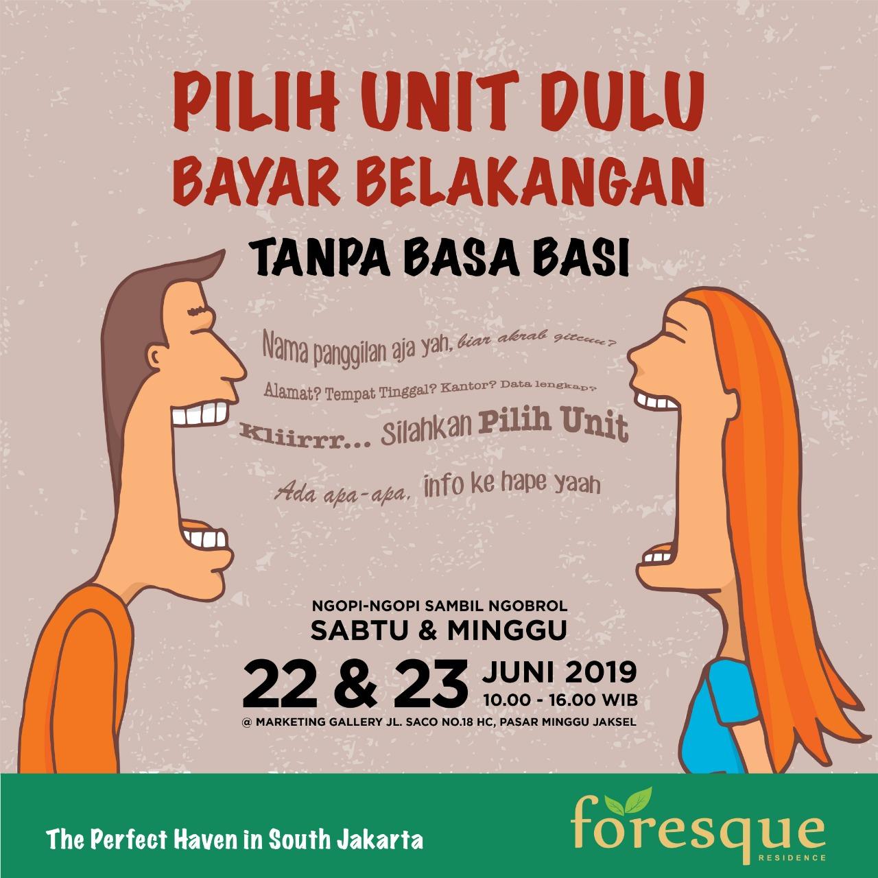 open house foresque residence jakarta selatan
